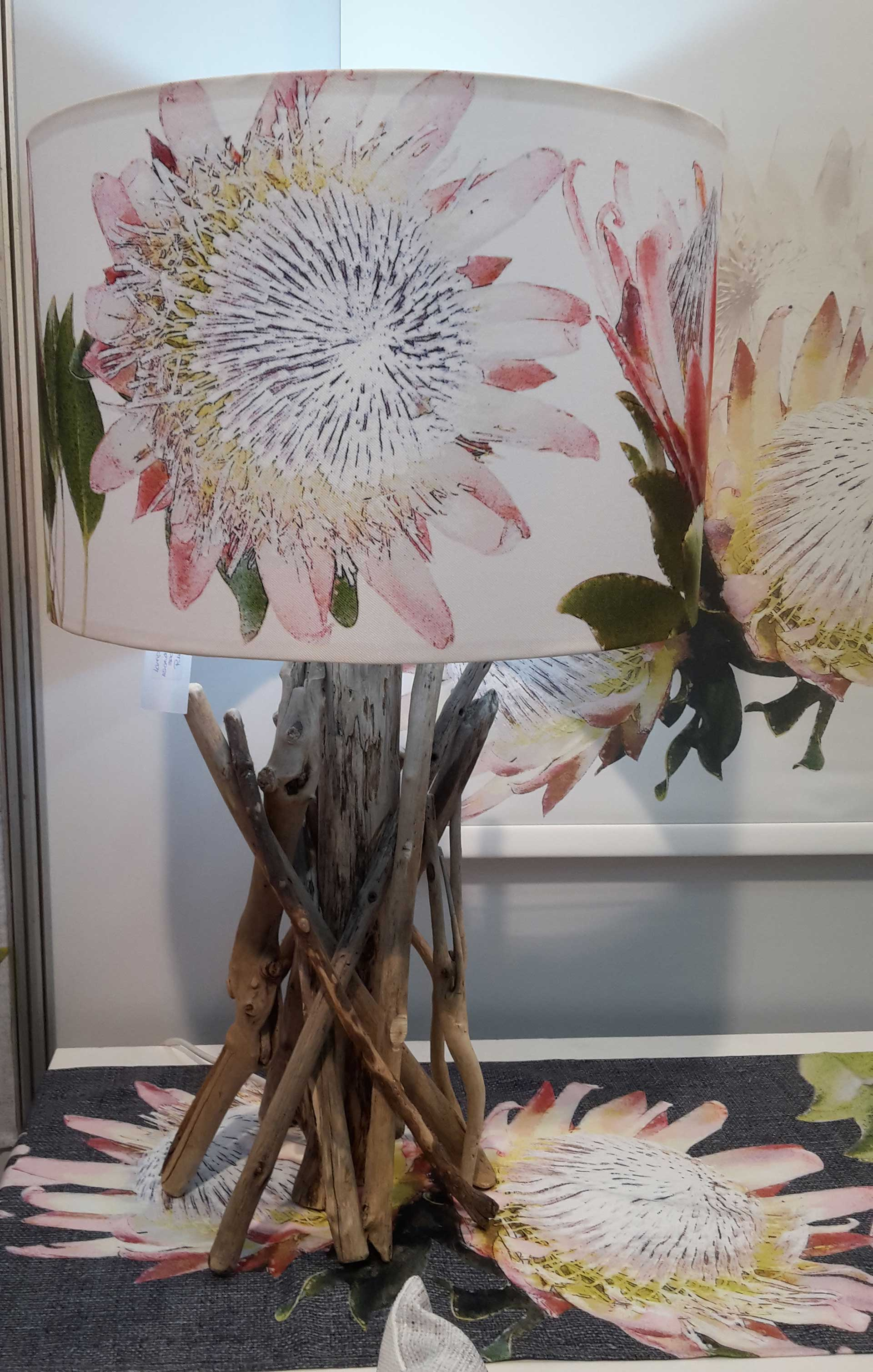 Pink-Proteas-lampshade